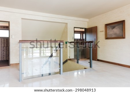 Interior of empty hall in the hotel - stock photo