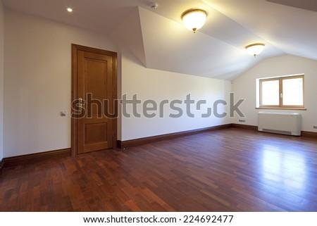 Interior of empty room - stock photo