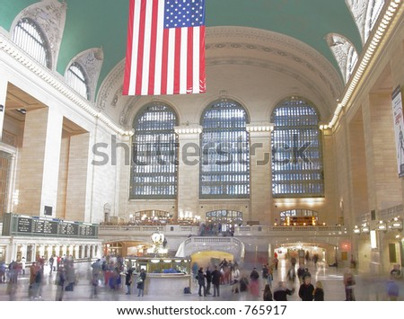 Interior of Grand Central Station. - stock photo