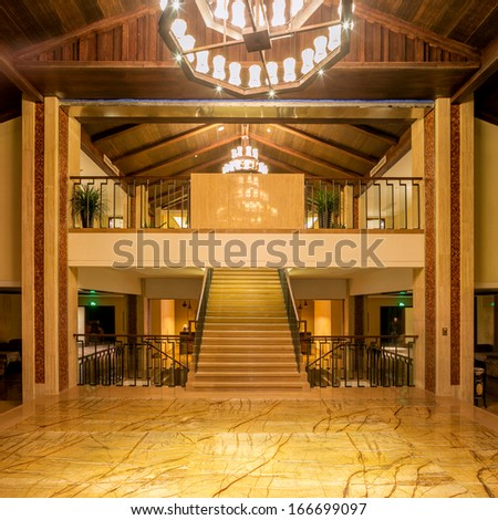 interior of hotel - stock photo