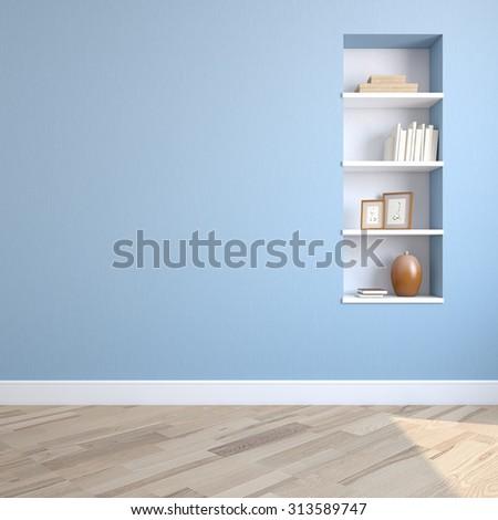 Interior of living-room. 3d render. - stock photo