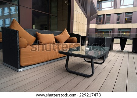 Interior of Luxury hotel lobby - stock photo