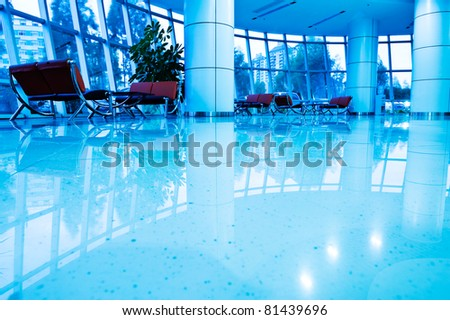 interior of modern business building - stock photo