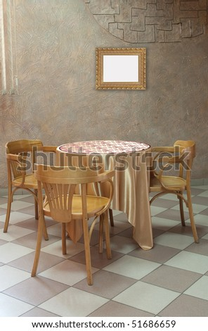 Interior of  modern cafe - stock photo