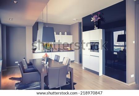 interior of modern  living room  - stock photo