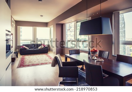 interior of modern  living room  - stock photo