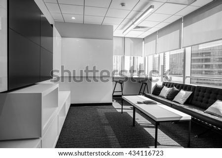 Interior of modern office Lobby. - stock photo