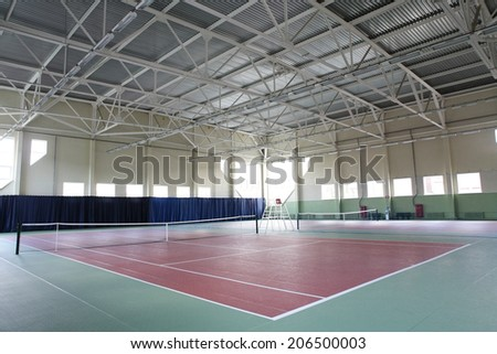 interior of modern tennis european sport club - stock photo