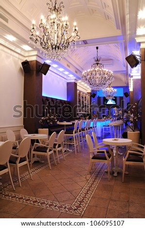 Interior Of Night Bar - stock photo