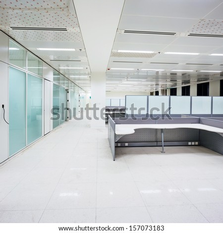 interior of office building - stock photo
