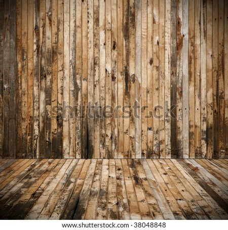 interior of old rural house - stock photo