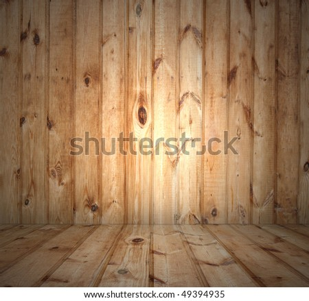 interior of old wooden house - stock photo