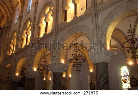 Interior of Our Lady of Lourdes Cathedral - stock photo