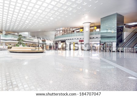 interior of shoppingmall - stock photo