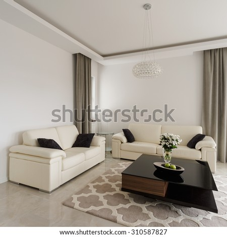 Interior of sitting room in luxury style - stock photo