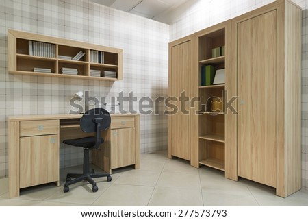 Interior of student (teenager) room - back to school  - stock photo