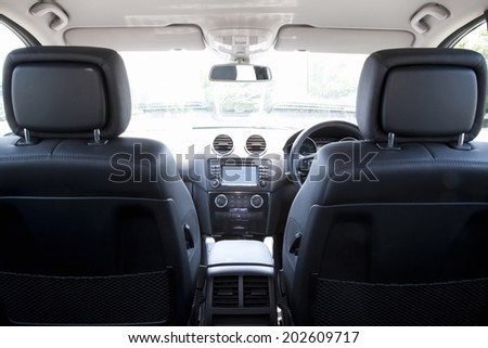 Interior Of The Car - stock photo