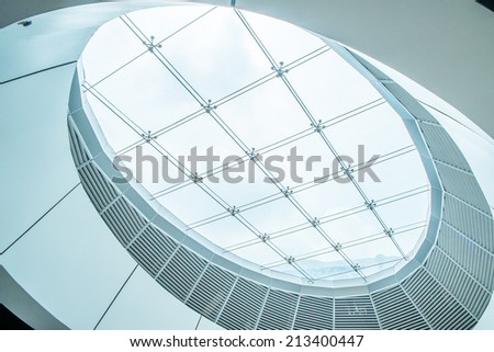 interior of the modern ceiling - stock photo