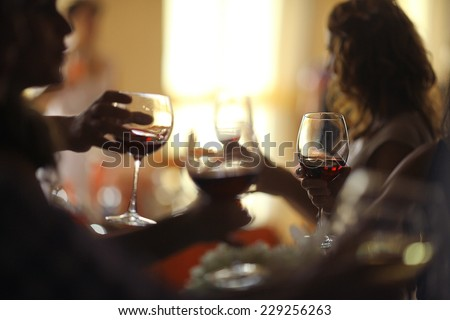 interior of the restaurant - stock photo