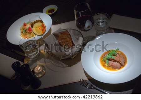 interior of the restaurant, Décor, Italian cuisine - stock photo