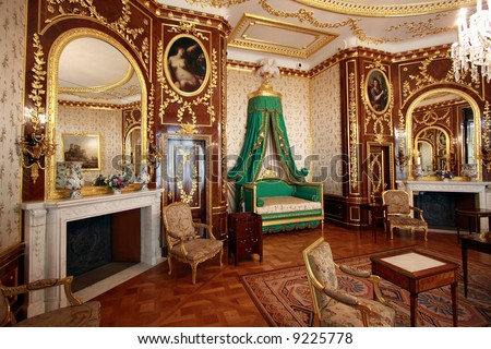 Interior of the Royal Castle in Warsaw. Residence of Polish kings and presidents. Actually on the UNESCO World Heritage List - stock photo