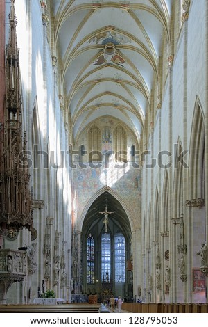 Interior of the Ulm Minster, Germany - stock photo