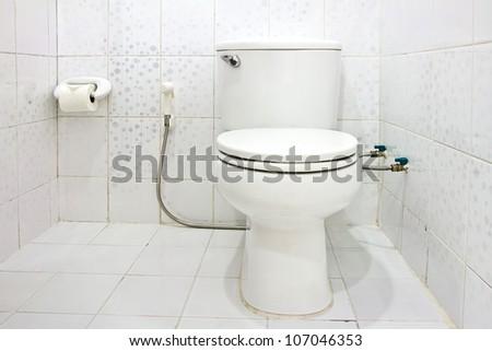 Interior of Toilet seat in bathroom - stock photo