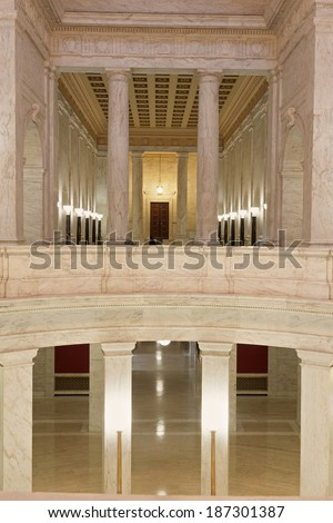 Interior of West Virginia State Capitol Building in Charleston - stock photo