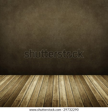 interior of wooden house - stock photo