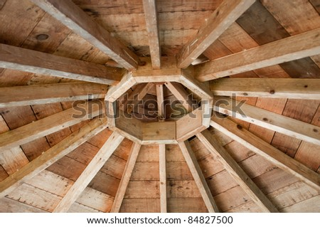 Interior Roof Of Gazebo - stock photo