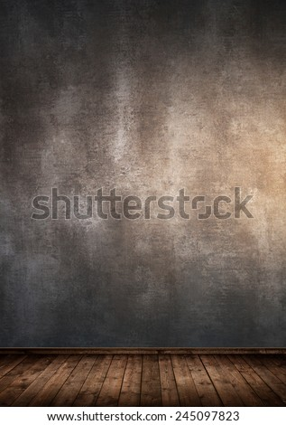 Interior room with concrete wall  - stock photo