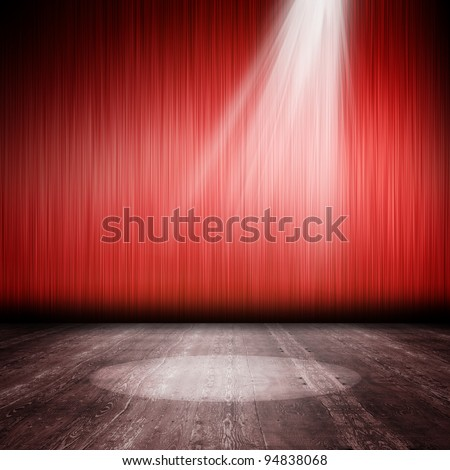 Interior shined with a projector - stock photo