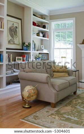 interior sitting area - stock photo