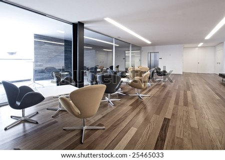 interior view from a waiting room - stock photo