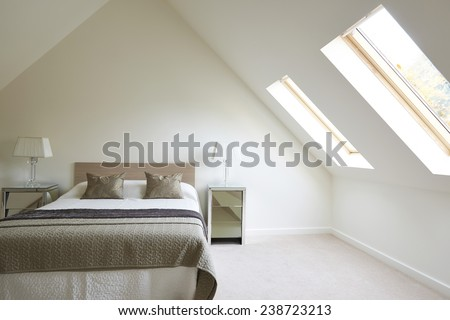 Interior View Of Beautiful Luxury Bedroom - stock photo