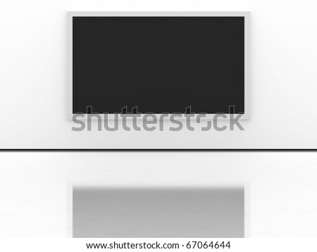 Interior whit a LCD TV - stock photo