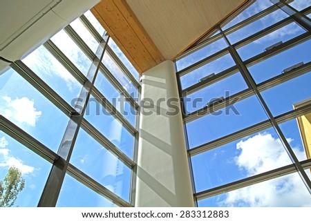 interior windows of office - stock photo