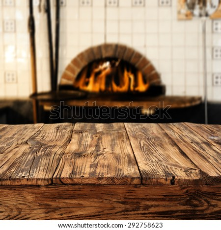 interior with fireplace and old top place  - stock photo