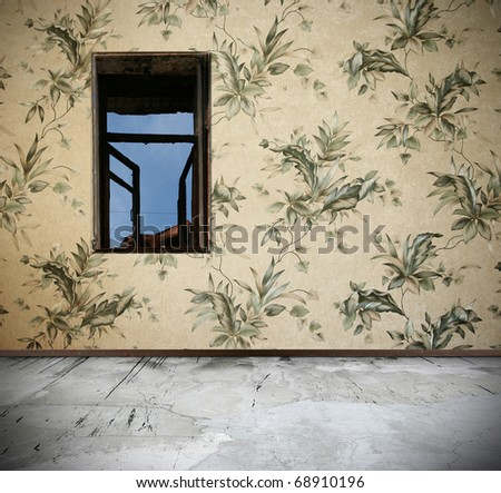 interior with window - stock photo