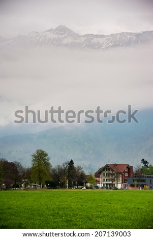 Interlaken valley - stock photo