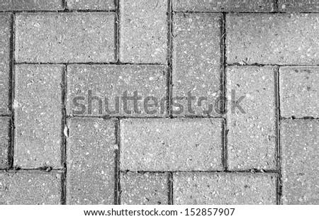Interlocking concrete bricks - stock photo