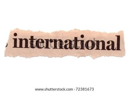 International - stock photo