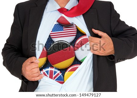 International Business - stock photo