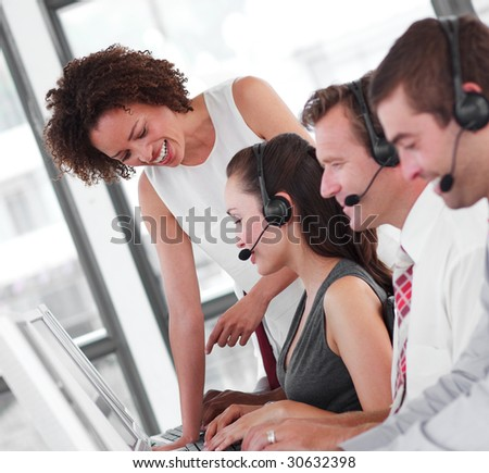 International business Group working as a team - stock photo