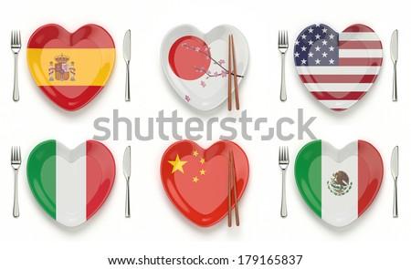 International cuisine - stock photo