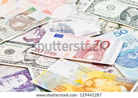 International currencies - stock photo