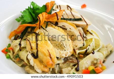 International gourmet food shot - stock photo