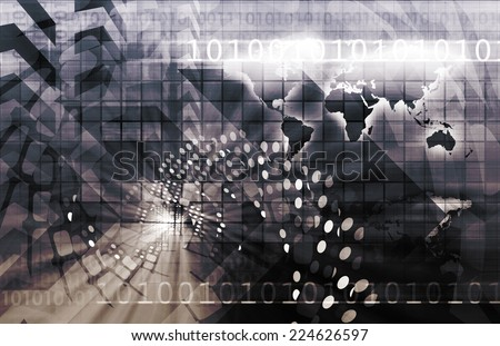 International Trade and Business Hub Abstract Art - stock photo