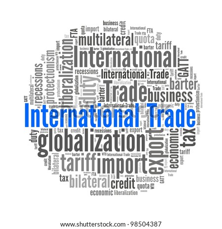 International Trade in word collage - stock photo
