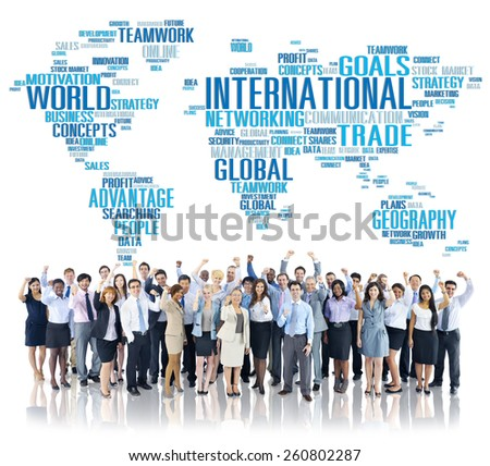 International World Global Network Globalization International Concept - stock photo